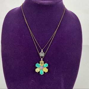 Lucky brand multicolor Flower necklace